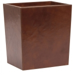 Hampton Leather Wastebasket