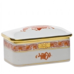 Chinese Bouquet Rust Covered Box