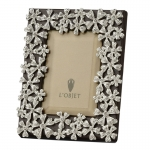 White Crystal Garland Frame