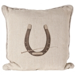 Equestrian Horseshoe Pillow