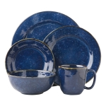 Puro Dappled Cobalt Five Piece Place Setting