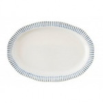Wanderlust Sitio Stripe Indigo 17\ Serving Platter