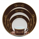 Cheval Chestnut Brown Five Piece Place Setting