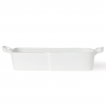 Lastra White Rectangular Baker