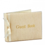 Linen Guest Book with Monogram