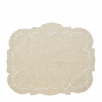 Scalloped Rectangular Natural Placemat