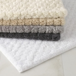 Lotus White Small Bath Rug
