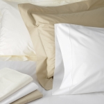 Luca White Standard Pillowcases, Pair