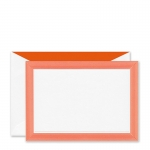 Mandarin Striped Embossed Border Correspondence Cards