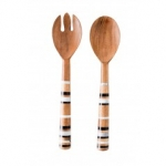 Stonewood Stripe Salad Server Set