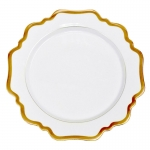 Antique White/Gold Dinner Plate