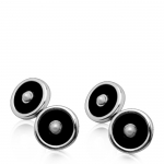 Pearl and Onyx Cufflinks