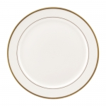 Gold Bracelet White with Gold Dinner Plate