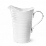 Large White Ceramic Pitcher