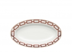 Catene Red Oval Pickle Dish