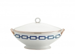 Catena Blue Oval Soup Tureen and Cover