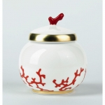 Cristobal Coral Covered Sugar Bowl