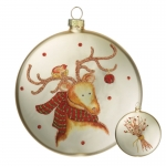 Reindeer Disc Ornament