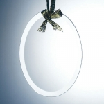 Glass Oval Ornament
