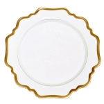 Antique White/Gold Salad Plate