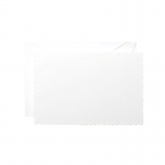 White Scalloped Edge Notecards