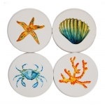 Sealife Sandstone Coasters, Set of 4