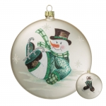 Snowman on Skates Ornament