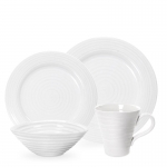 White Ceramic Four Piece Place Setting