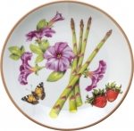 Summerlea Asparagus and Petunia Bread and Butter Plate