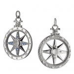 \Travel\ Global Compass Charm Necklace