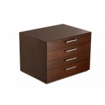 Rangement Walnut 144-Piece Flatware Storage Chest