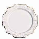 Simply Anna Antique Polka Dessert Plate