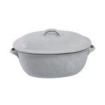 Quotidien White Truffle Large Covered Casserole Dish