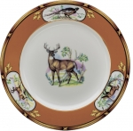 American Wildlife White Tail Buck Dinner Plate