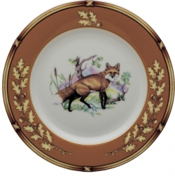 American Wildlife Fox Bread and Butter Plate